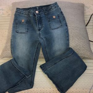 Girls flared blue Jeans